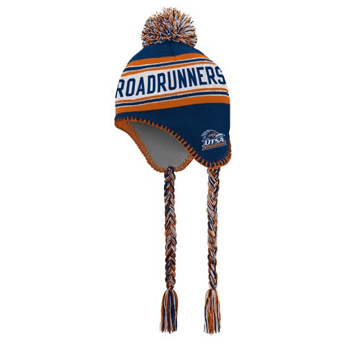 adidas™ Boys' University of Texas at San Antonio Tassel Knit Hat with Pom