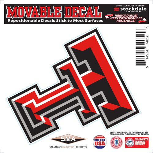 Stockdale Texas Tech University 6' x 6' Decal