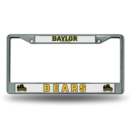Rico Baylor University Chrome License Plate Frame - view number 1