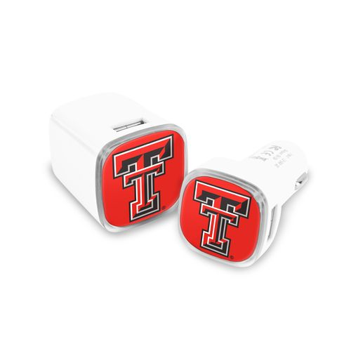 Mizco Texas Tech University USB Chargers 2-Pack