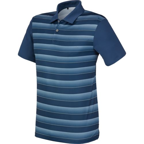 adidas Men's Block Stripe Polo Shirt