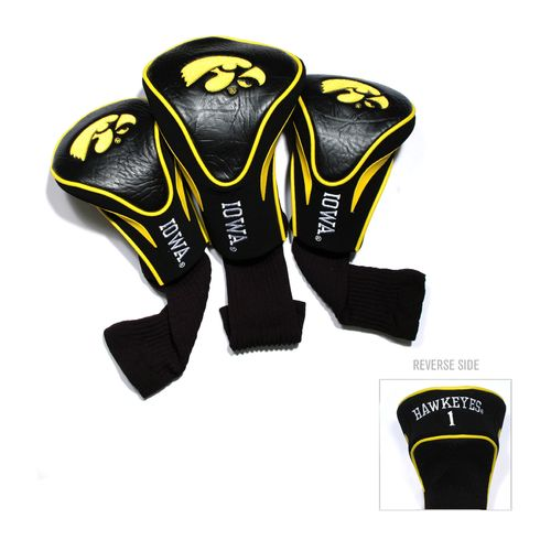 Team Golf University of Iowa Contour Sock Head Covers 3-Pack