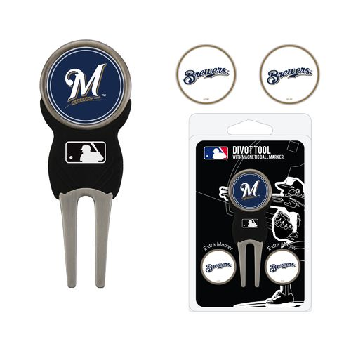 Team Golf Milwaukee Brewers Divot Tool and Ball Marker Set - view number 1