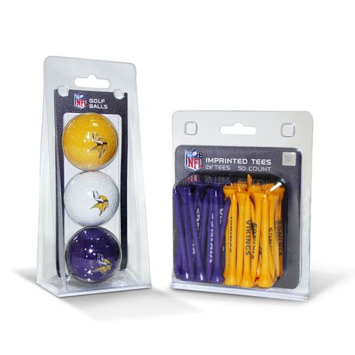 Team Golf Minnesota Vikings Golf Balls and Tees Set