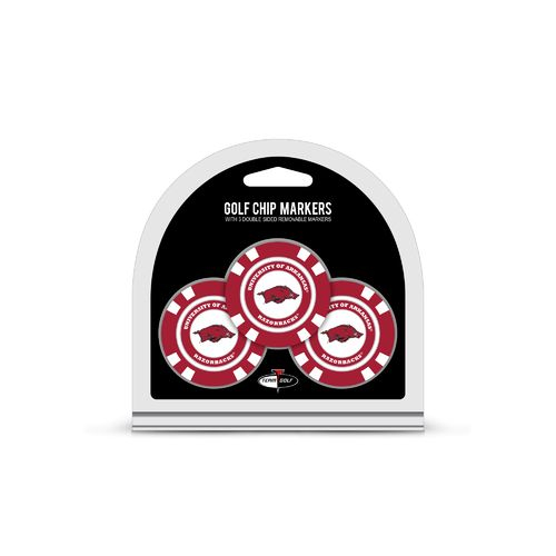 Team Golf University of Arkansas Poker Chip and Golf Ball Marker Set
