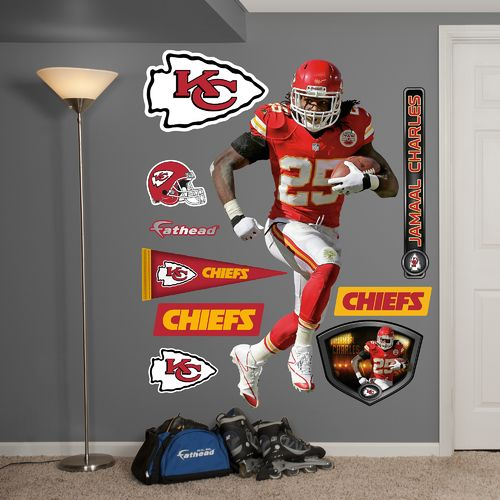 Fathead Kansas City Chiefs Jamaal Charles Home Real