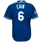Majestic Men's Kansas City Royals Lorenzo Cain #6 World Series Replica Jersey