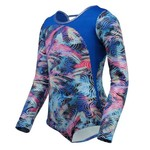 Capezio® Girls' Future Star Abstract Movement Pieced Long Sleeve Leotard