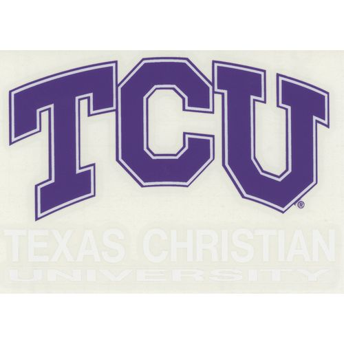 "Stockdale Texas Christian University 4"" x 7"" Decals 2-Pack"
