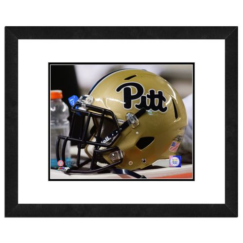 Photo File University of Pittsburgh Helmet 8' x 10' Matted and Framed Photo