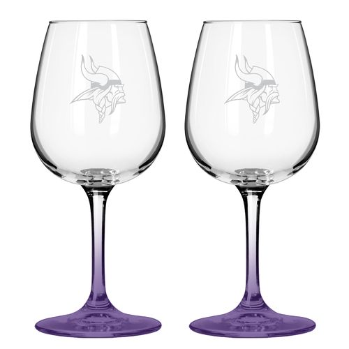 Boelter Brands Minnesota Vikings 12 oz. Wine Glasses 2-Pack