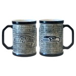 Boelter Brands Seattle Seahawks Stone Wall 15 oz. Coffee Mugs 2-Pack