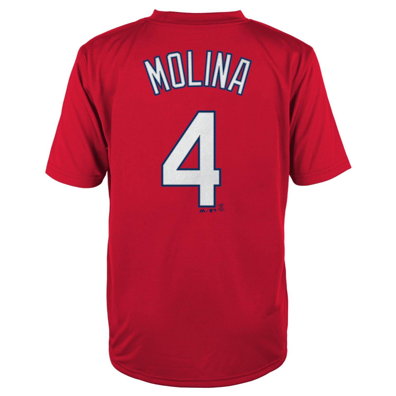 Majestic Boys' St. Louis Cardinals Yadier Molina #4