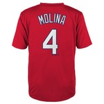 Majestic Boys' St. Louis Cardinals Yadier Molina #4 Short Sleeve T-shirt