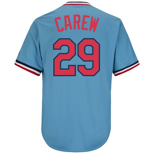 Majestic Men's Minnesota Twins Rod Carew #29 Cooperstown Cool Base 1965 Replica Jersey