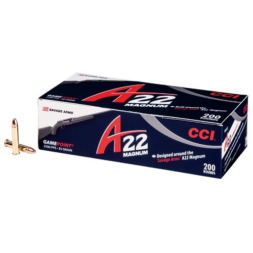 Display product reviews for CCI® A22 Magnum GamePoint® .22 WMR 35-Grain Rimfire Rifle Ammunition