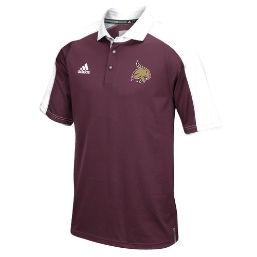 adidas™ Men's Texas State University Sideline Polo Shirt