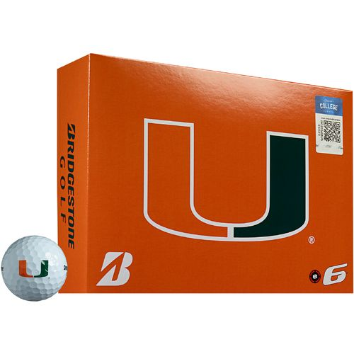 Bridgestone Golf Miami Dolphins e6 Golf Balls 12-Pack
