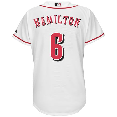 Majestic Women's Cincinnati Reds Billy Hamilton #6 Cool Base Replica Home Jersey