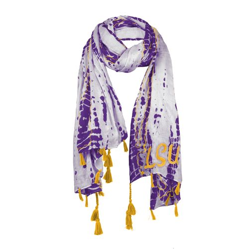 Chicka-d Women's Louisiana State University Tie Dye Scarf