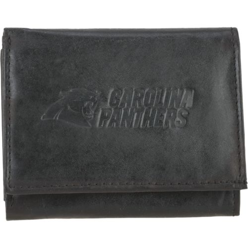 Rico Men's Carolina Panthers Embossed Trifold Wallet