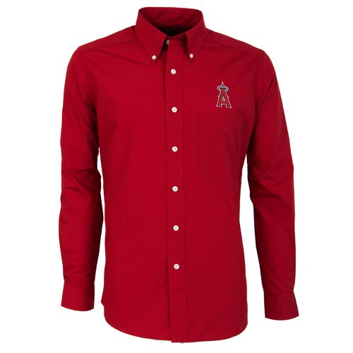 Antigua Men's Los Angeles Angels of Anaheim Dynasty Long Sleeve Button Down Shirt