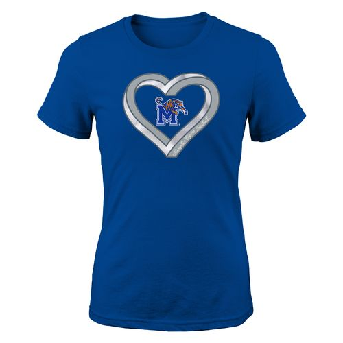 NCAA Girls' University of Memphis Infinite Heart T-shirt