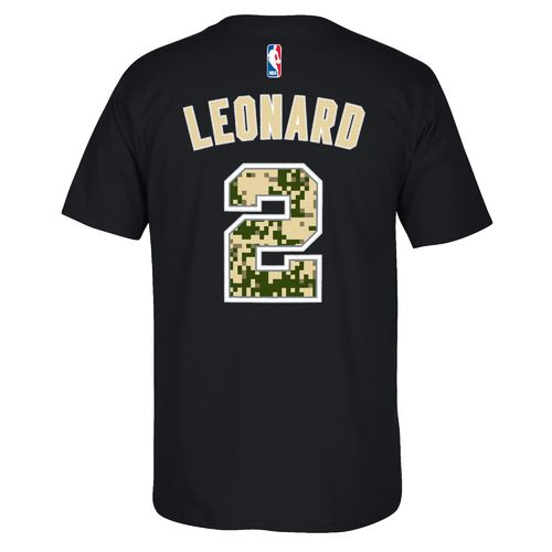 adidas Men's San Antonio Spurs Kawhi Leonard No. 2 U-Series T-shirt