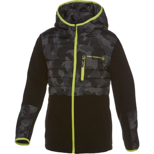 Free Country Boys' Power Down Hybrid Fleece Jacket