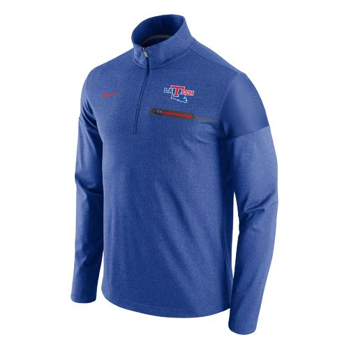 Nike™ Men's Louisiana Tech University Elite Coaches 1/2 Zip Pullover