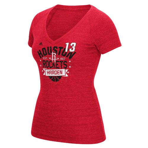 adidas Women's Houston Rockets James Harden No. 13 Swirl Name and Number T-shirt