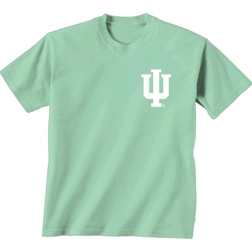 New World Graphics Women's Indiana University Floral Mint T-shirt - view number 2
