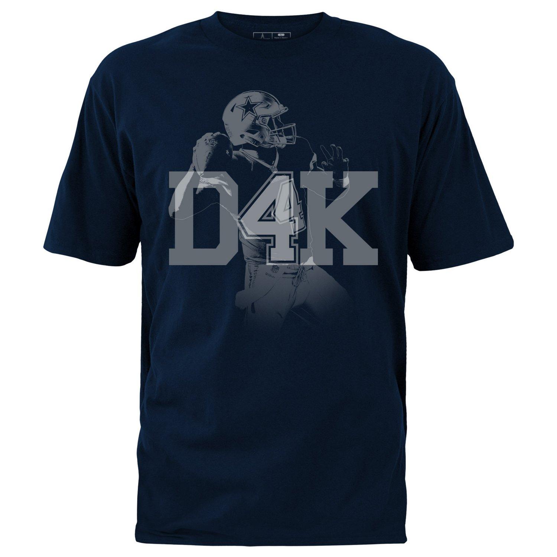 Display product reviews for Dallas Cowboys Men's Dak Prescott D4K T-shirt
