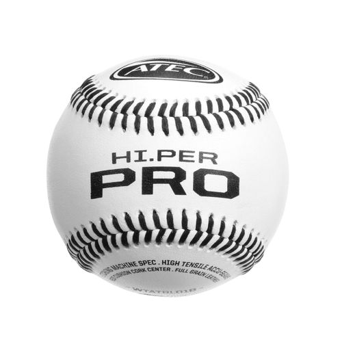 ATEC Hi.Per Pro Flat-Seam Leather Baseballs 12-Pack