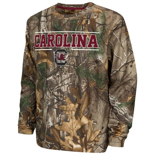 Colosseum Athletics™ Boys' University of South Carolina Pointer Long Sleeve Camo Shirt
