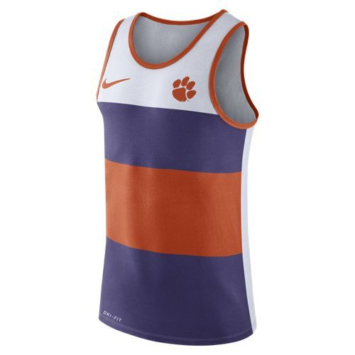 Nike™ Men's Clemson University Stripe Tank Top