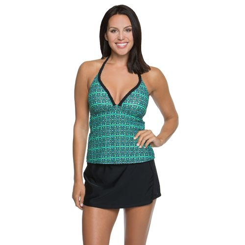 Aqua Couture™ Women's Mesmerized Stripes Molded Tankini Swim Top