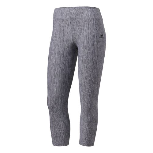 adidas Women's Performer Mid Rise Jacquard 3/4 Tight
