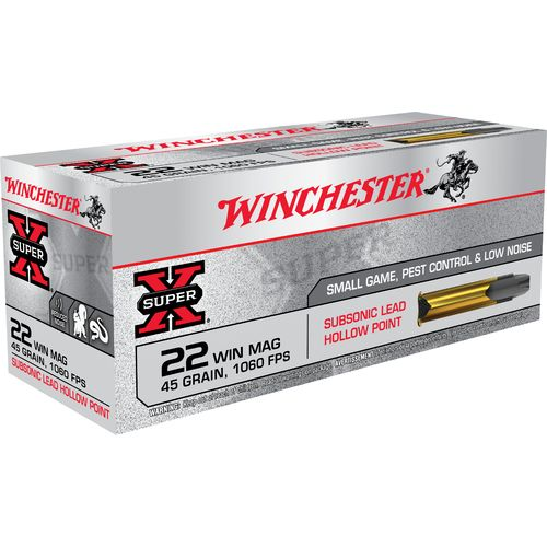 Display product reviews for Winchester Super-X Subsonic JHP .22 Win Mag 45-Grain Rimfire Ammunition