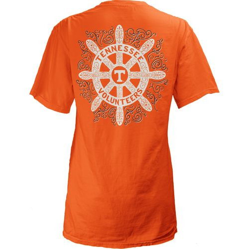 Three Squared Juniors' University of Tennessee Anchor Flourish V-neck T-shirt