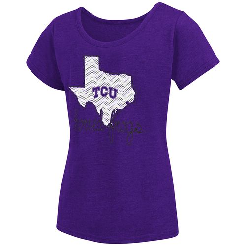Colosseum Athletics™ Girls' Texas Christian University Tissue 2017 T-shirt - view number 1