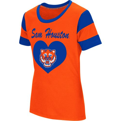 Colosseum Athletics Girls' Sam Houston State University Bronze Medal Short Sleeve T-shirt