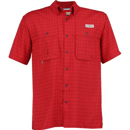 Magellan Outdoors Men's Aransas Pass Tonal Plaid Short Sleeve Shirt