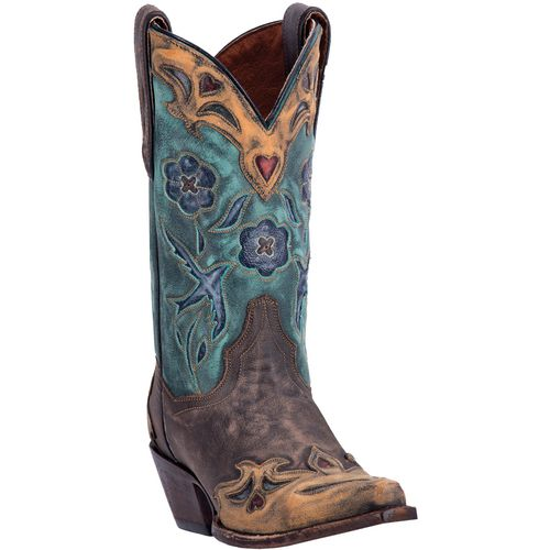 Dan Post Women's Vintage Bluebird Sanded Leather Western Boots