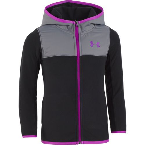 Under Armour Girls' Microfleece Zip Hooded Jacket