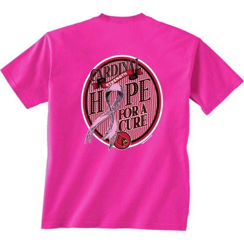 New World Graphics Women's University of Louisville Breast Cancer Hope T-shirt