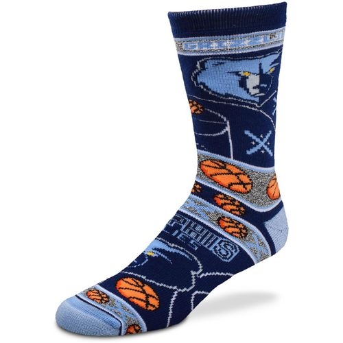 For Bare Feet Men's Memphis Grizzlies Super Fan Crew Socks