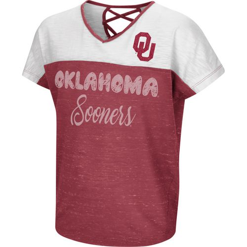Colosseum Athletics Girls' University of Oklahoma Palledorous Dolman T-shirt