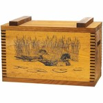 Evans Sports Wood Ducks Wooden Ammo/Accessory Box