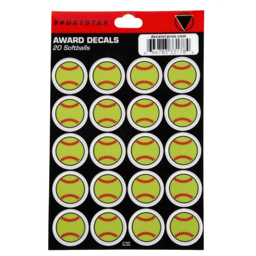 Display product reviews for Sportstar Softball Award Decals